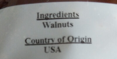 Californian Walnuts - Ingrédients - en
