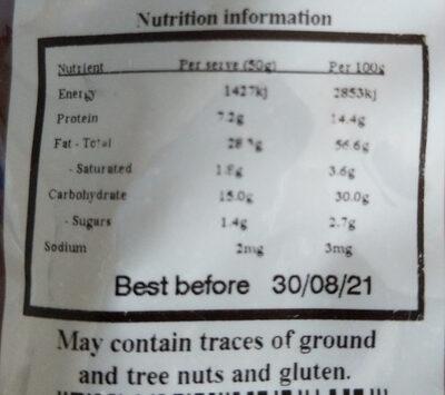 Californian Walnuts - Informations nutritionnelles - en