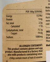 Organic pancake mix - Nutrition facts - en
