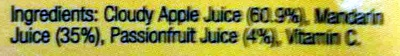 Juice of Apple, Mandarin & Passionfruit - Ingredients