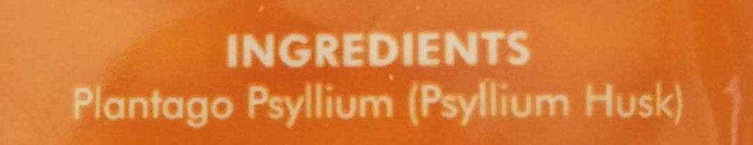 SF Health Foods Psyllium Husk - Ingredients