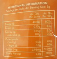 SF Health Foods Psyllium Husk - Nutrition facts