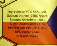 B-B Products Original Double Smoked Leg Ham - Ingredients