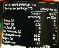 Genuine Tasmanian Leatherwood Honey - Nutrition facts