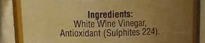 White Wine Vinegar - Ingredients