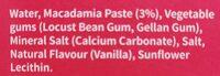 Mac Milk - Ingredients