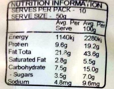 Low Cholesterol Mix - Nutrition facts - en