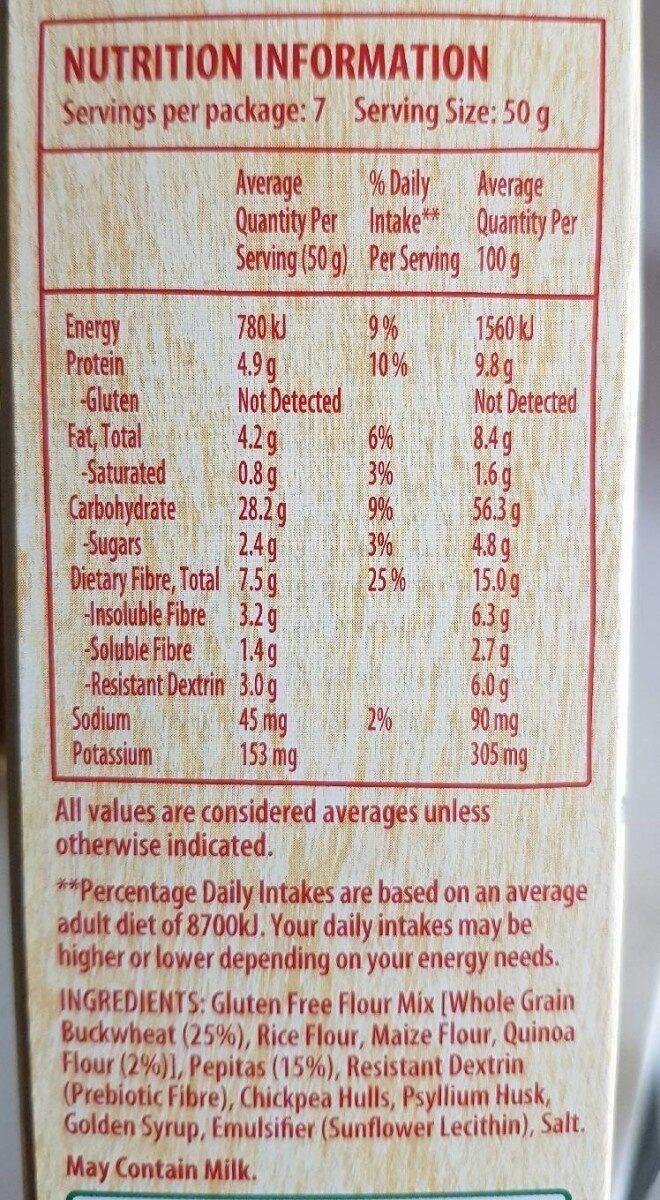 Active balance buckwheat & quinoa - Informations nutritionnelles - en