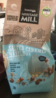Heritage mill salted caramel hazelnut clusters - Product - en