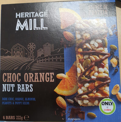 Choc Orange Nut Bars - Product - en