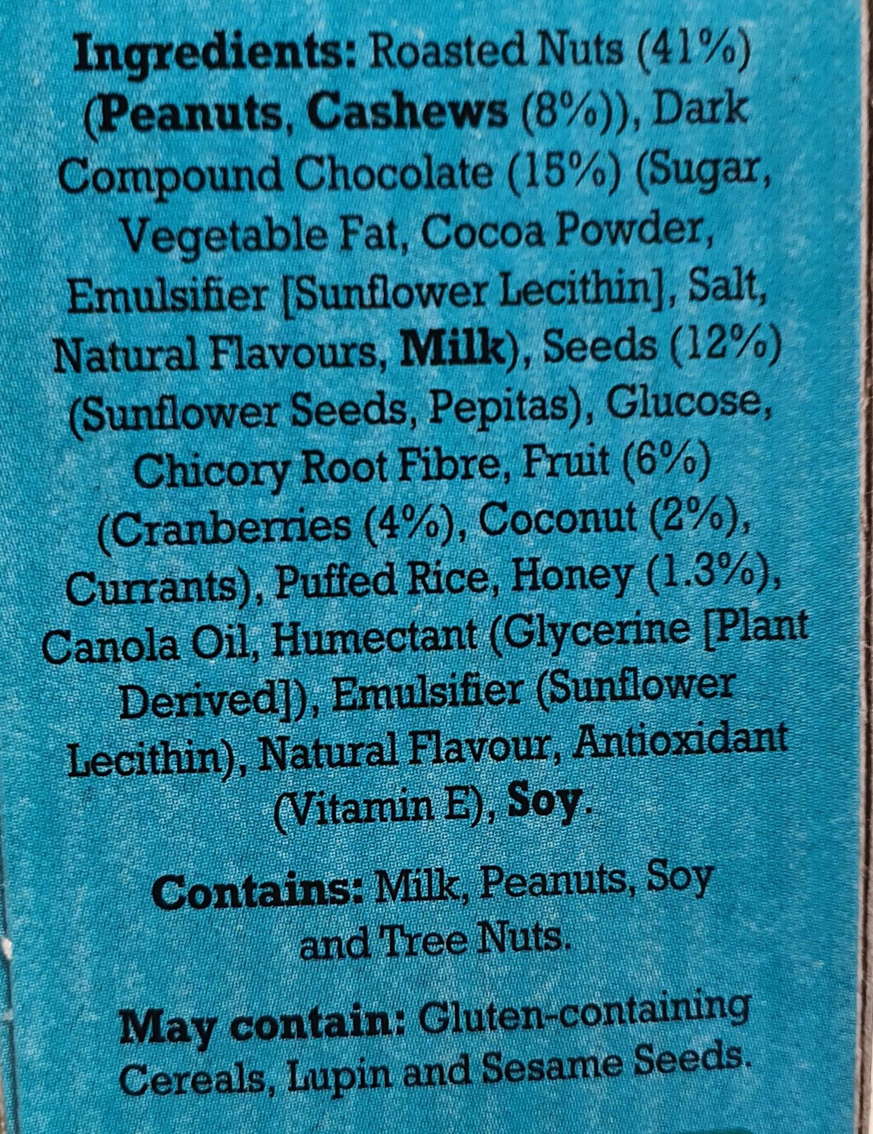 Berry Coconut Nut Bars - Ingredients
