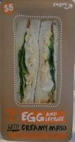 Sandwich egg and lettuce - Produit