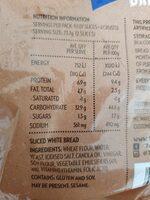7 eleven sliced white bread - Ingredients - en