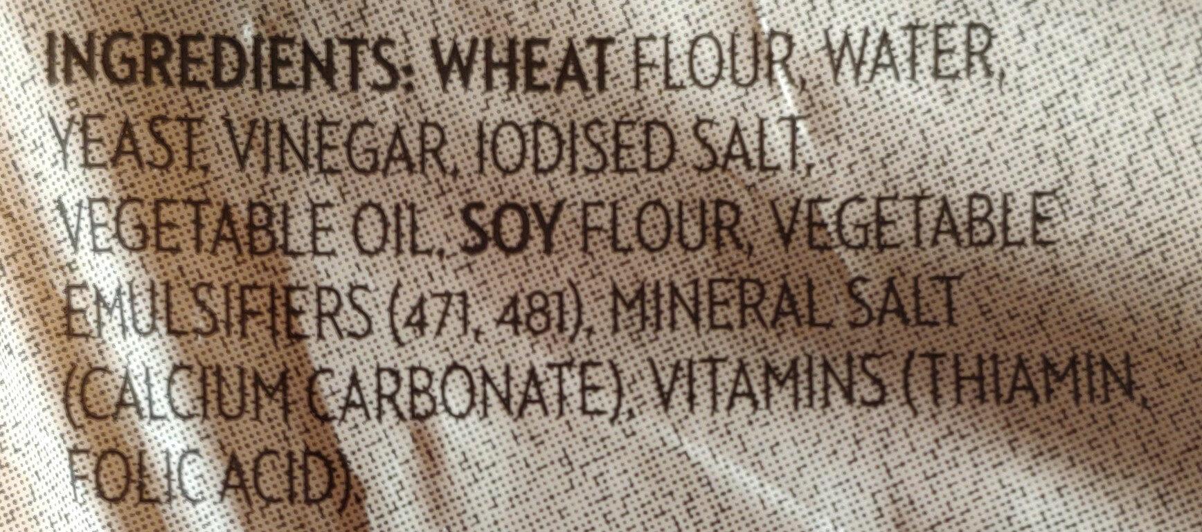 Sliced White Bread - Ingrediënten - en