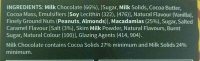Chocolate Macadamias Salted Caramel - Ingredients