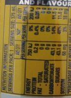 Solo Original Lemon - Nutrition facts - en