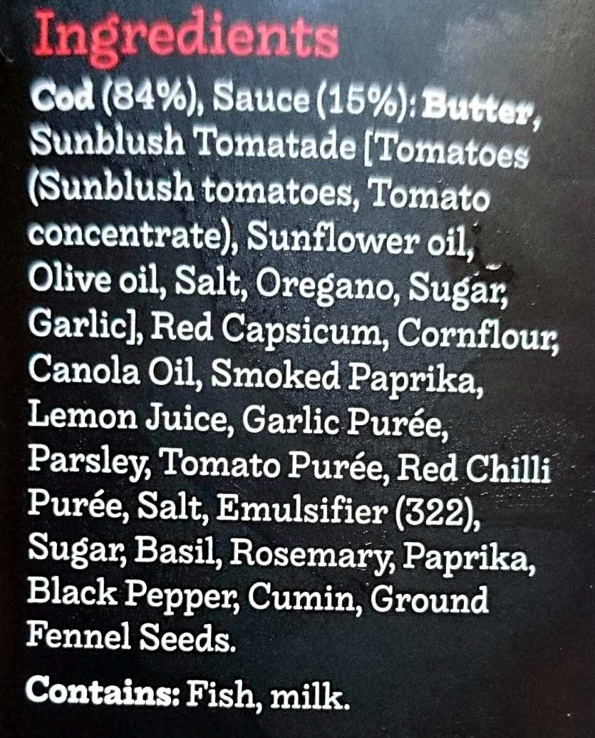 Spicy Spanish Cod - Ingredients - en