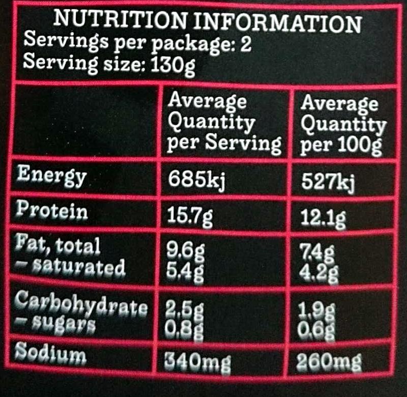 Spicy Spanish Cod - Nutrition facts - en