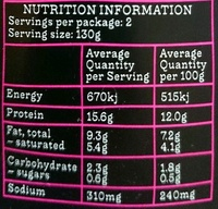Thai Style Red Curry Cod - Nutrition facts - en