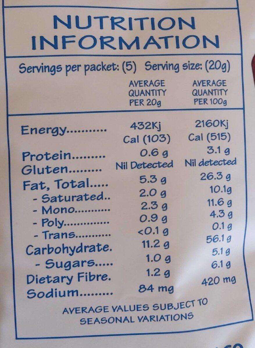 Deli Crisps - Nutrition facts - en