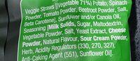 Veggie Straws - Ingredients - en