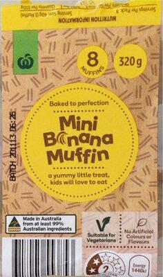 Mini Banana Muffins - Product - en