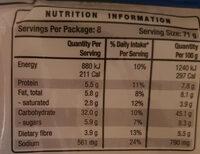 Originals Wrap - Nutrition facts - en