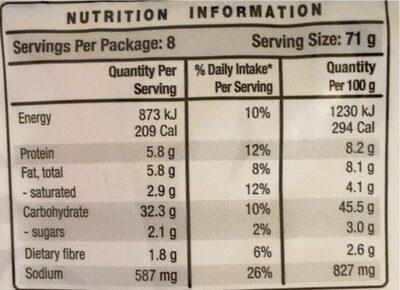 Mission Wraps Original Super Soft - Nutrition facts - en