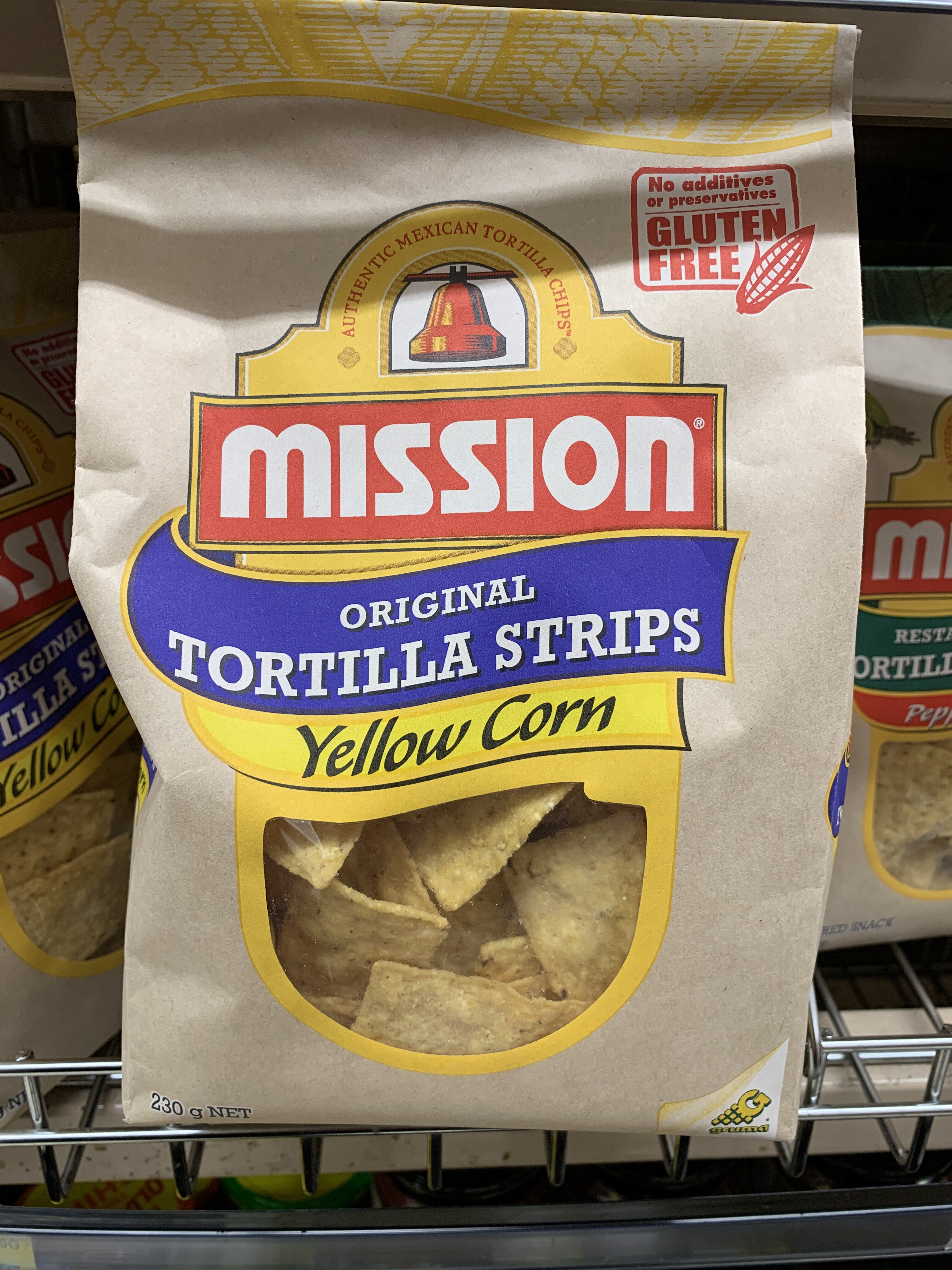 Mission original tortilla strips yellow corn - Product - en