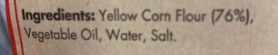 Mission original tortilla strips yellow corn - Ingredients