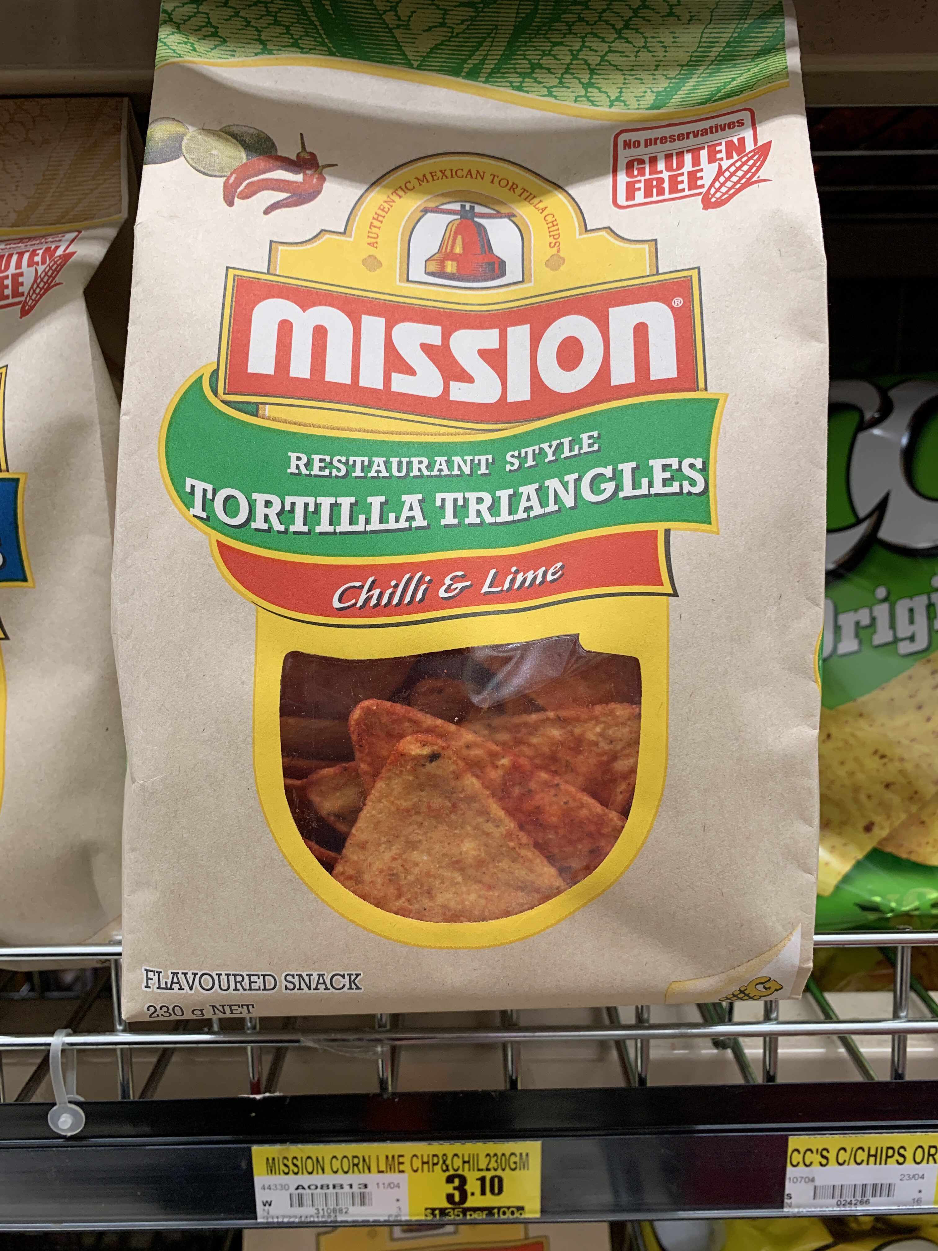 Mission tortilla triangles chili and lime - Product