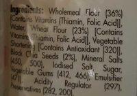 Chia Wraps - Ingredients