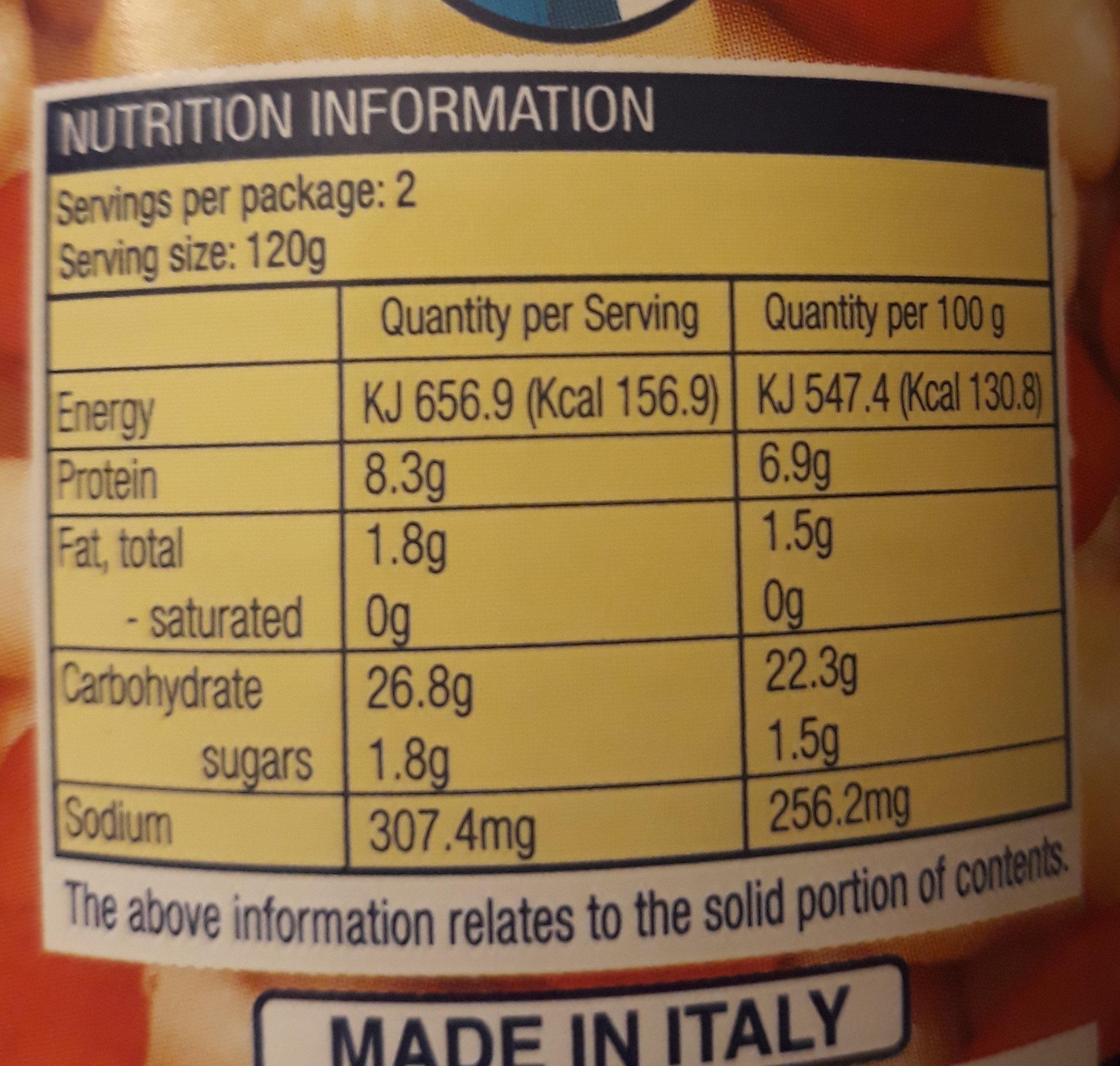 4 Bean Mix - Nutrition facts - en