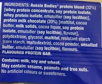 Choc protein bar - Ingredients