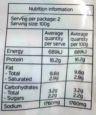 Siu Mai - Nutrition facts