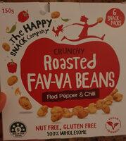Crunchy Roasted Fav-va Beans Red Pepper & Chilli - Produit - en