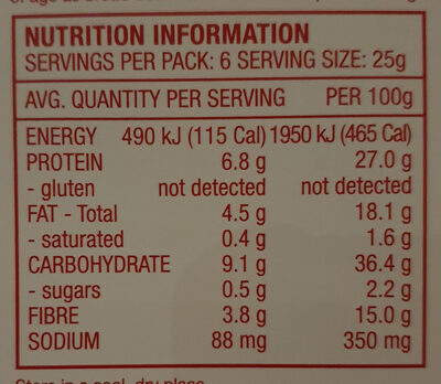 Crunchy Roasted Fav-va Beans Red Pepper & Chilli - Informations nutritionnelles - en