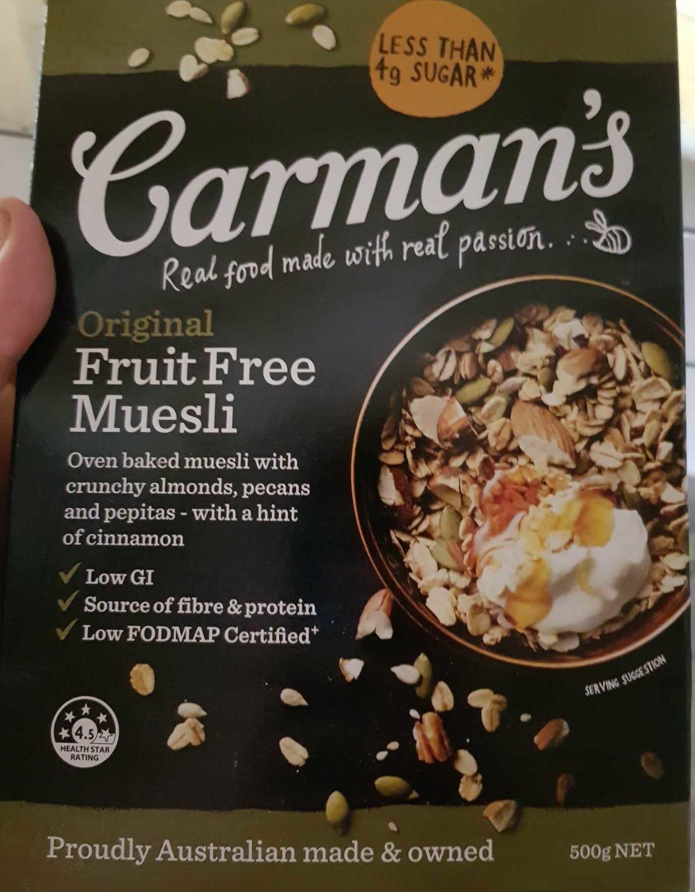 Original Fruit Free Muesli - Produit - en