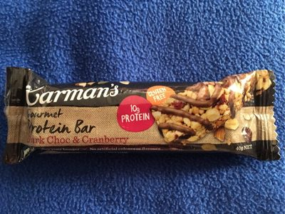 Carman's Protein Bar Dark Chocolate and Cranberry 40G - Produit - fr