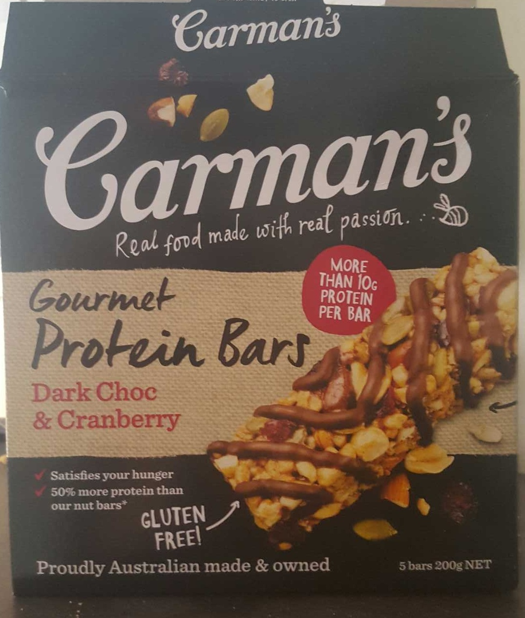 Gourmet Protein Bars Dark Choc & Cranberry - Product