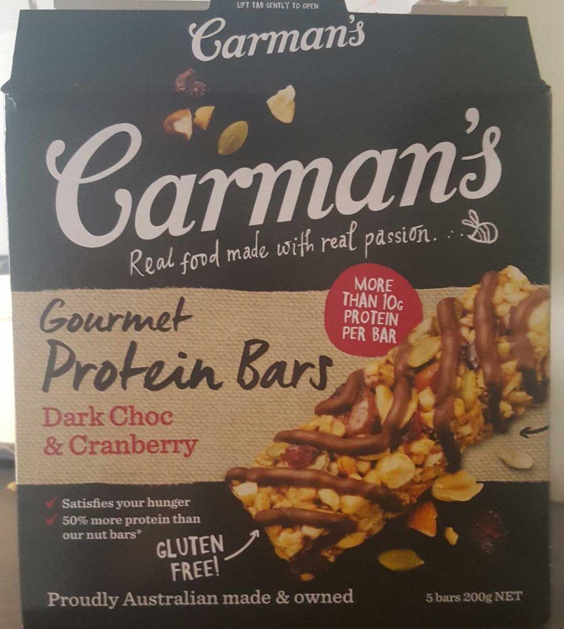 Gourmet Protein Bars Dark Choc & Cranberry - Produit - fr
