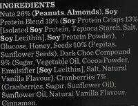Gourmet Protein Bars Dark Choc & Cranberry - Ingrédients - fr