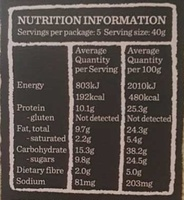 Gourmet Protein Bars Dark Choc & Cranberry - Nutrition facts