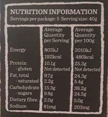 Gourmet Protein Bars Dark Choc & Cranberry - Nutrition facts - en