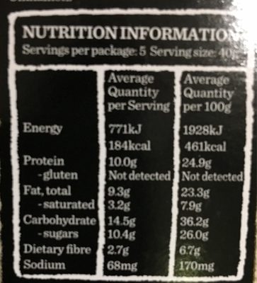 Gourmet Protein Bars Dark Choc & Cranberry - Informations nutritionnelles