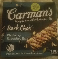 Blueberrie superfood bars - Product - en