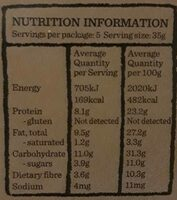 Roasted NutBar - Informations nutritionnelles - fr
