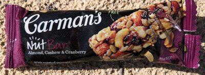Carman's NutBar almond cashew cranberry - Produit - fr
