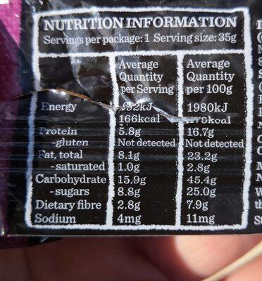 Carman's NutBar almond cashew cranberry - Informations nutritionnelles - fr