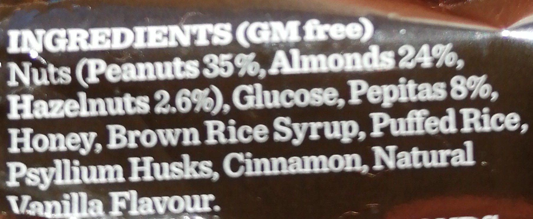Nut Bar - Ingrédients - fr